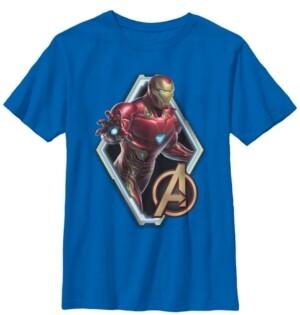 Fifth Sun Marvel Big Boys Avengers Endgame Iron Man Logo Short Sleeve T-Shirt