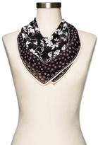 Merona Women's Black Floral Fashion Scarf