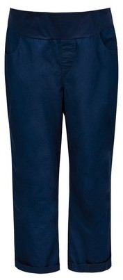 Dorothy Perkins Womens Dp Maternity Navy Under Bump Crop Cotton Trousers