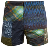 Missoni Patchwork zigzag-print swim shorts