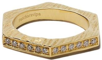 Patcharavipa 18kt Yellow Gold Diamond Hexagon Ring