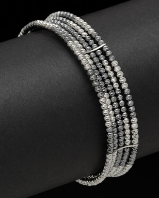 Italian Silver 5-Strand Bead Bracelet