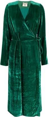 Semi-Couture Semicouture V-neck silk wrap dress