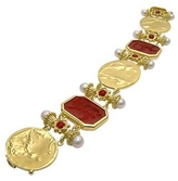 Tagliamonte Classics Collection - 18K Gold and Ruby Link Bracelet