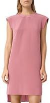 AllSaints High/Low Tonya Silk Shift Dress