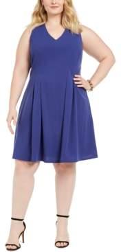 Teeze Me Juniors' Plus Size Sleeveless Fit & Flare Dress