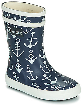 Aigle BABY FLAC girls's Wellington Boots in Blue