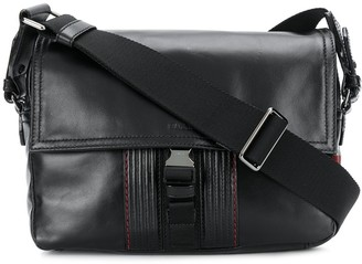 Bally Stitch-Trimmed Messenger Bag
