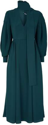 Emilia Wickstead Farnia Neck-Tie Dress