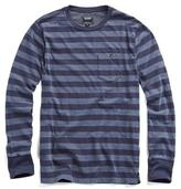 Todd Snyder Long Sleeve Striped Pocket Tee in Navy