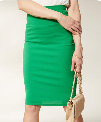 Vky & Co VKY & CO Women's Career Skirts GREEN - Kelly Green High-Waist Pencil Skirt - Women & Plus