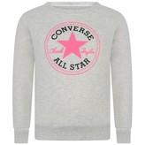 Converse ConverseGirls Grey Logo Sweatshirt