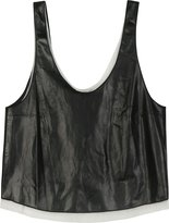 Tie Back Leather Tank