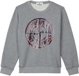 Stone Island Logo print cotton sweatshirt 4-14 years