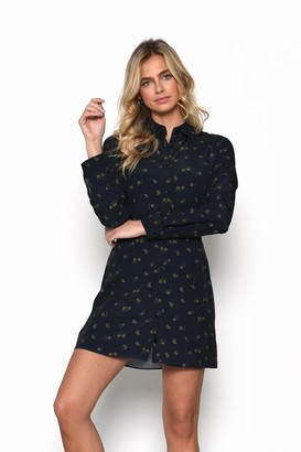 Glamorous Womens **Olive Floral Printed Shirt Dress By Olive