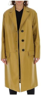 Prada Leather Knee Length Coat