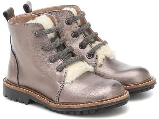 Bonpoint Metallic leather boots
