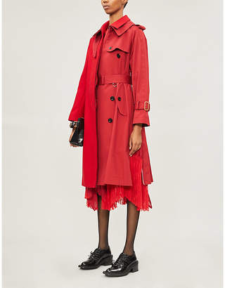Sacai Melton wool and cotton jacket