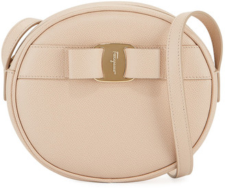 Salvatore Ferragamo Vara Bow Round Zip Crossbody Bag