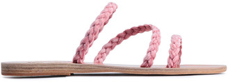 Ancient Greek Sandals Alkmini Braided Velvet Slides