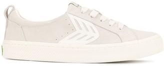 Cariuma CATIBA Low Off White Suede Ivory Logo Sneaker