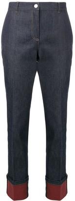 Bottega Veneta Rolled-Up Straight-Cut Jeans