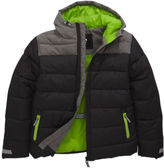 Very Contrast Yoke Padded Jacket In Black / Grey Size 3-4 Years