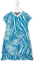 Roberto Cavalli leaf print dress - kids - Cotton/Spandex/Elastane - 4 yrs