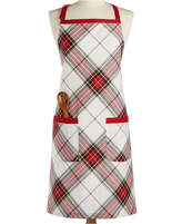 Martha Stewart Collection Deer Pond Cotton Plaid Apron, Created for Macy's