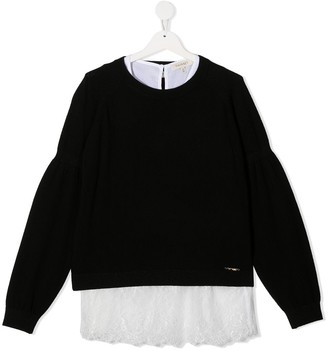 Twin-Set TEEN layered jumper