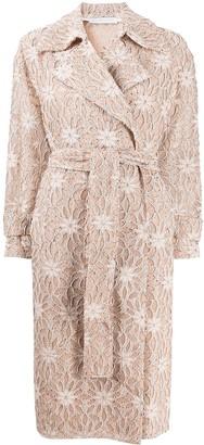 Harris Wharf London Embroidered Oversized Coat