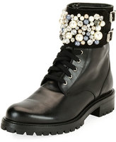 Black Combat Boots With Buckles - ShopStyle