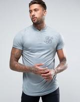 SikSilk Suedette Zip T-Shirt