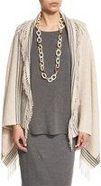 Eileen Fisher Trattino Wool-Blend Wrap, Plus Size