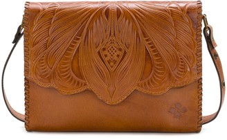Patricia Nash Leather Burnished Tool Shoulder Bag - Santillana