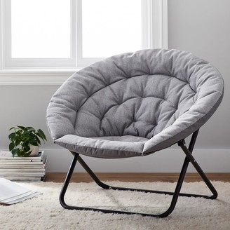 Pottery Barn Teen Recycled Blend Basketweave Silver Hang-A-Round Chair