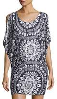 Trina Turk Indochine Scoop-Neck Printed Tunic Top