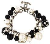 Chanel Faux Pearl Bead Bracelet