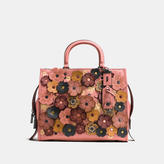 Coach Rogue In Pebble Leather With Tea Rose