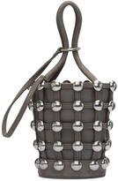 Alexander Wang Taupe Dome Stud Mini Roxy Bucket Bag