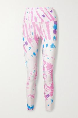 Splits59 Bardot Tie-dyed Stretch Leggings