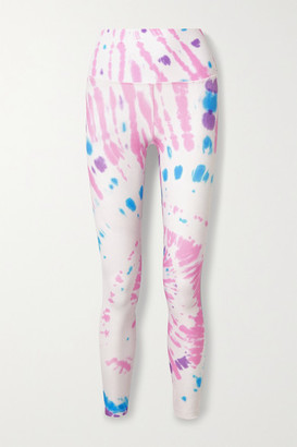 Splits59 Bardot Tie-dyed Stretch Leggings - Blue