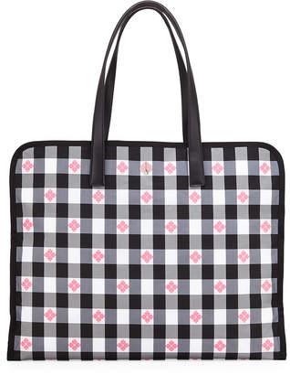 Kate Spade Nylon Check Xl Tote Bag