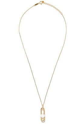 Tasaki 18kt yellow gold Fine Links Collection Line Akoya pearl and diamond pendant