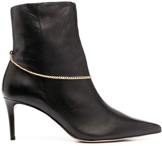 Schutz Detachable-Chain Ankle Boots