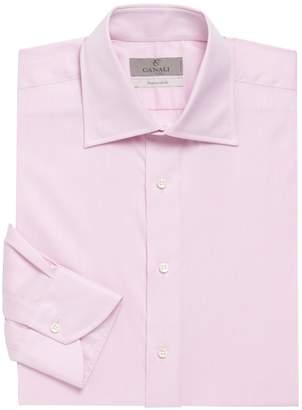 Canali Textured Cotton Dress Shirt