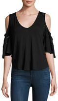 Ella Moss Bella V-Neck Cold-Shoulder Top