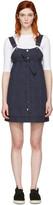 Sjyp Navy Button-front Dress