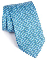 Salvatore Ferragamo Men's Turtle Print Silk Tie