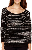 Liz Claiborne 3/4-Sleeve High-Low Pullover Sweater - Tall